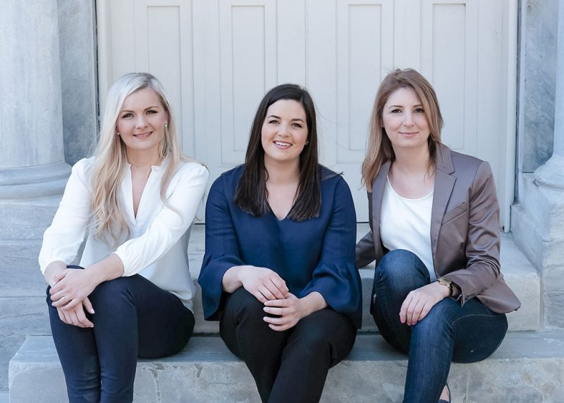 Team photo of Elizabeth Sleigher Kelly Mericle Vivian Mulder Kelly Mericle Design Philadelphia Interior Design Firm