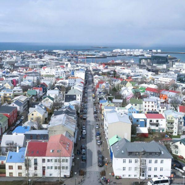 Photo Overlooking Reykjavik in Iceland