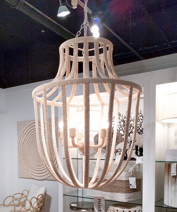 Casual chandelier with coastal inspiration