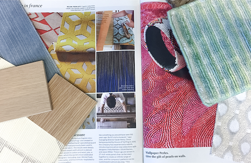 Photo of Interiors Design Magazine and Materials