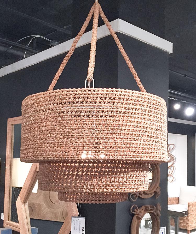 Two tier coastal inspired chandelier