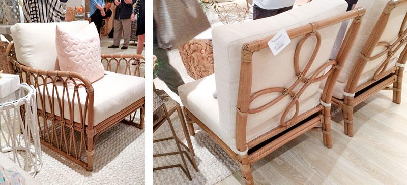 Natural rattan coastal furniture